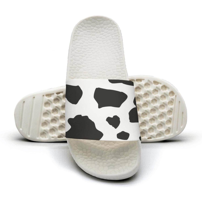 Black And White Cow Pattern Digital Art Slippers Sandals Slippers for Men