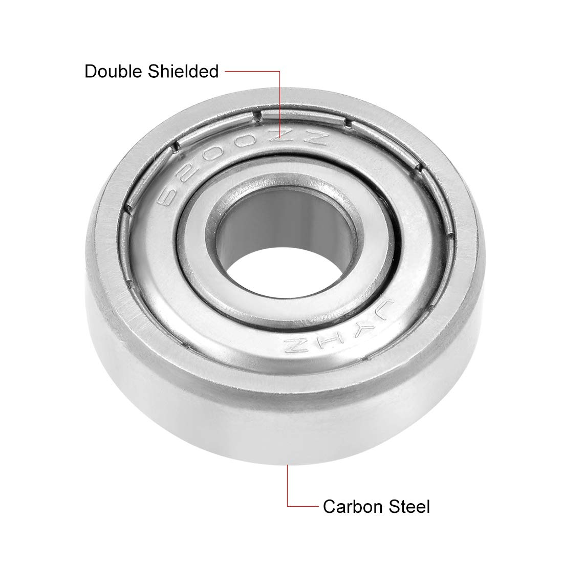 sourcing map 6200 2RS Sealed Deep Groove Ball Bearing 10mm x 30mm x 9mm