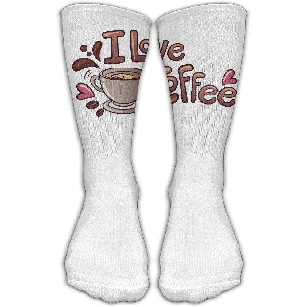 Protect Wrist For Cycling Moisture Control Elastic Sock Tube Socks Love Coffee Athletic Soccer Socks