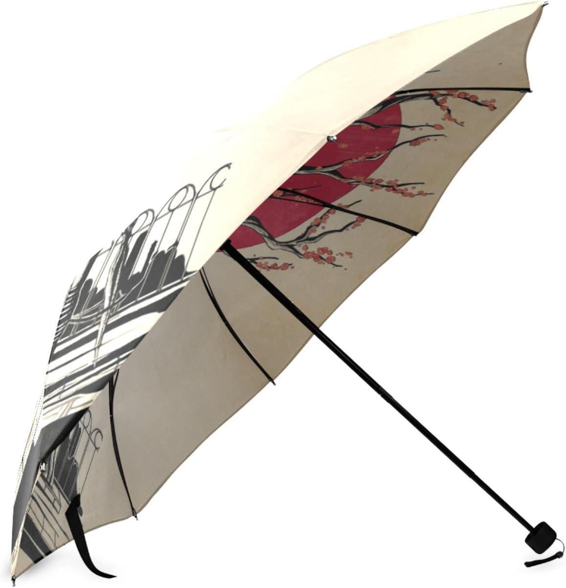 Personalized Japanese Student Foldable Raining Umbrella