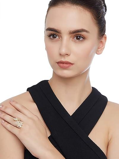 4bb6746b9 Buy SHAZE Hannah Gold Ring |Rings for Women Ring for Girlfriend ...