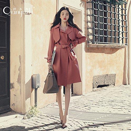 suelto Mayihang abrigo Untar rojo largo las niñas y Señoras Fashion Begonia THTf87cqg