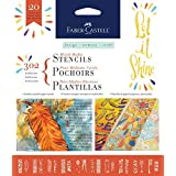 Faber-Castell Mixed Media Paper Stencils - 302 Collection - 20 Reusable Faith Stencils