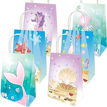 Amazon.com: Bolsas de regalo de sirena con diseño de sirena ...