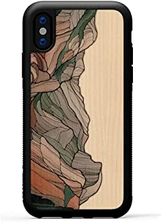 product image for Carved - iPhone Xs - Luxury Protective Traveler Case - Unique Real Wooden Phone Cover - Rubber Bumper - Half Dome Print