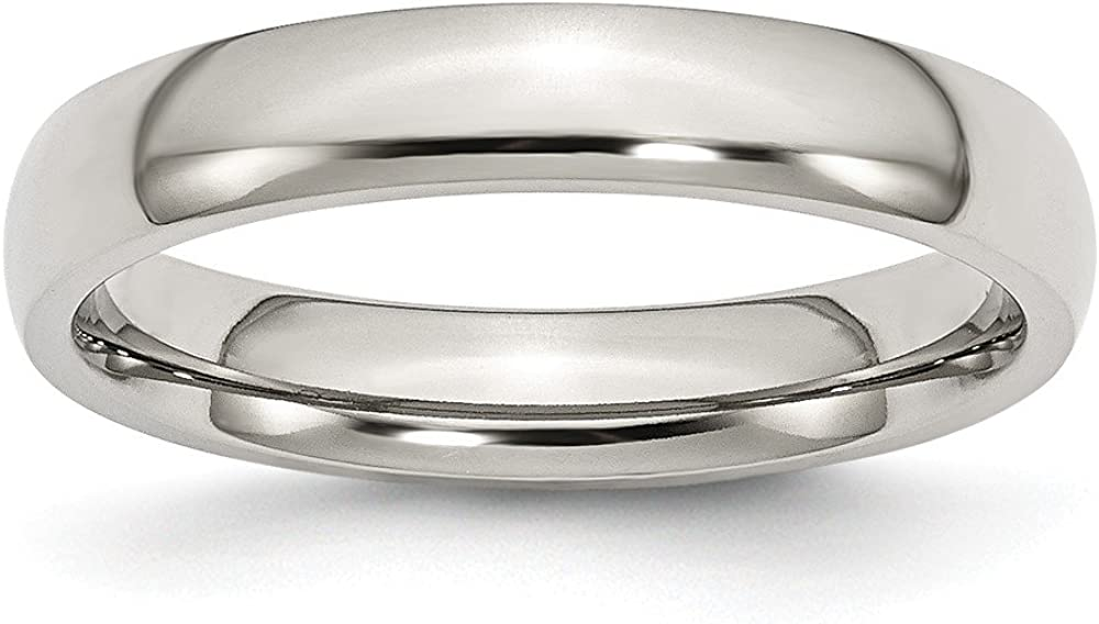 11.5, Size Jay Seiler Stainless Steel 4mm Polished Band
