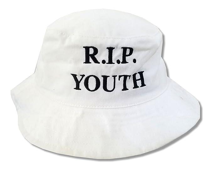 3d8909a59fdfd The Neighbourhood R.I.P. Youth White Bucket Hat Cap NBHD  Amazon.ca ...