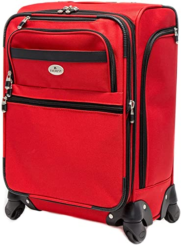 Everest 21-inch Spinner Luggage, Red, One Size