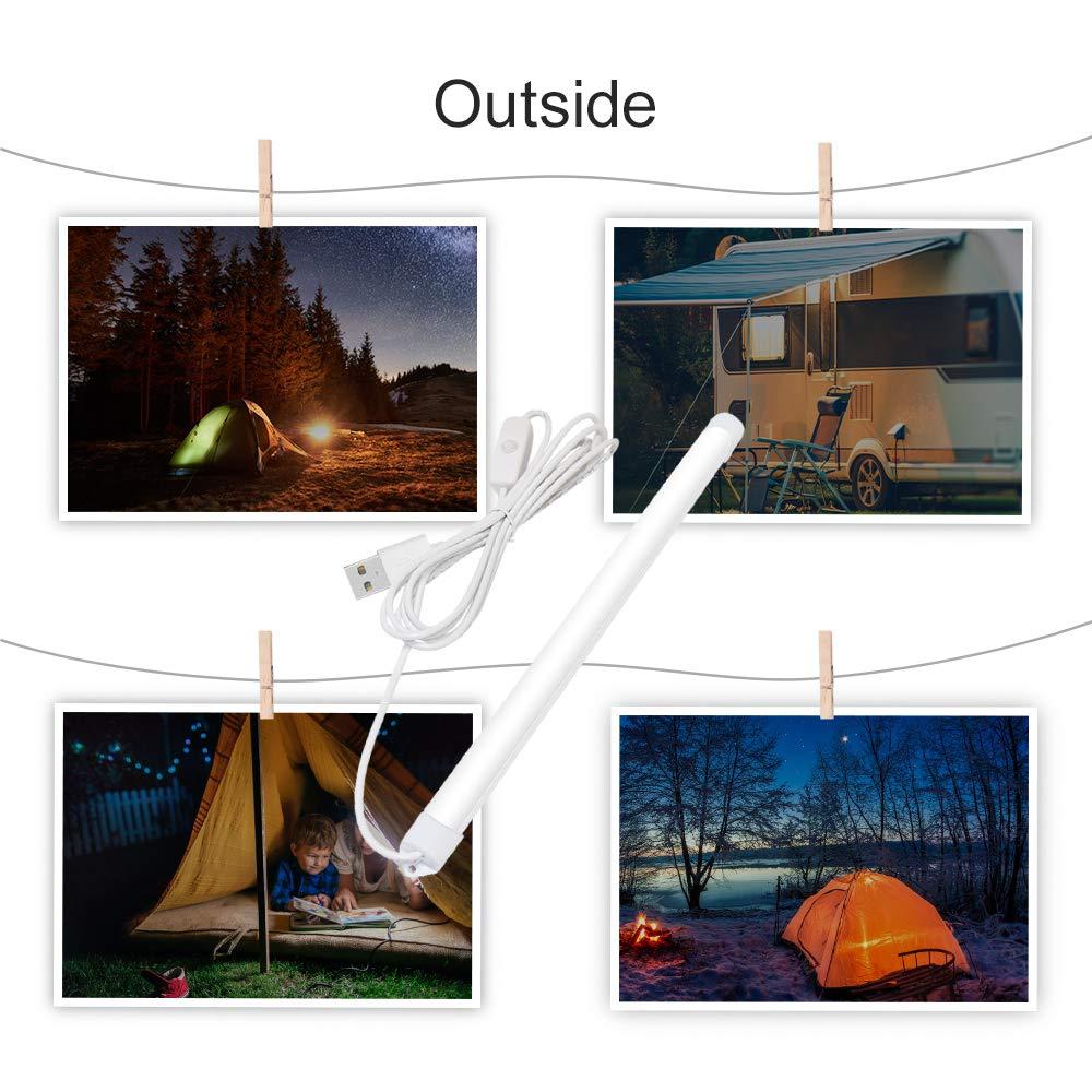 Lámpara LED con conexión USB, para Camping Senderismo Pesca alumbrado de lectura: Amazon.es: Iluminación