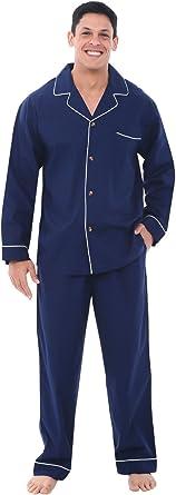 Alexander Del Rossa Men's Lightweight Button Down Pajama Set