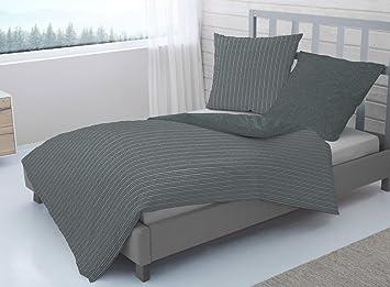 Dormisette Flanell Bettwäsche 135x200 Cm 80x80 Cm Amazonde