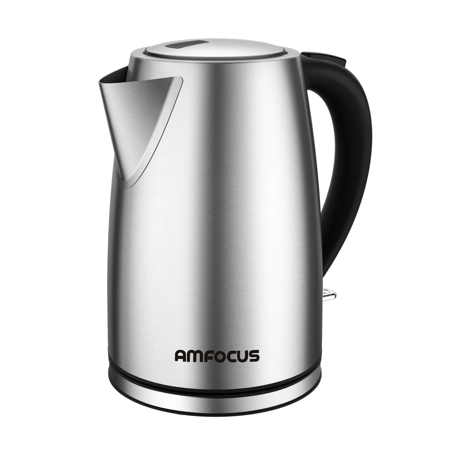 Electric Kettle - 1.7 Liter 304 Stainless Steel Hot Water kettle - Coffee Pot & Tea Kettle - Auto Shutoff and Boil Dry Protection, Cordless, FDA/FCC Approved by Weftnom (Image #1)