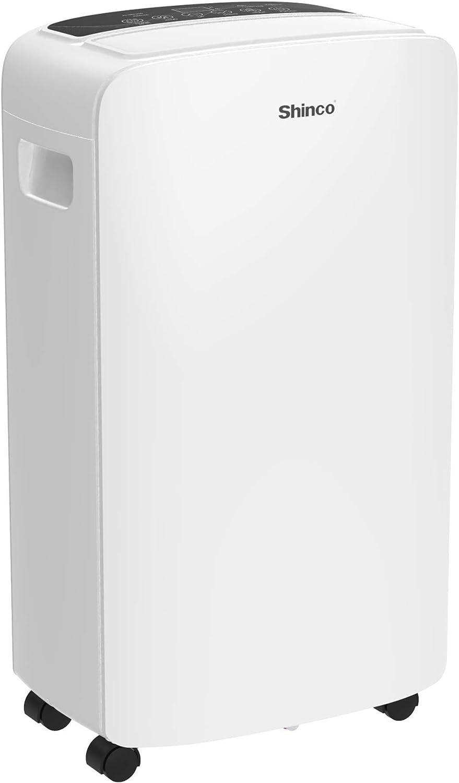 Shinco 2,000 Sq.Ft Dehumidifier for Medium Spaces, Home, Office, Basement, Bedroom, Bathroom, Laundry room, Garage. Auto or Manual Drain, Quietly Remove Moisture & Control Humidity