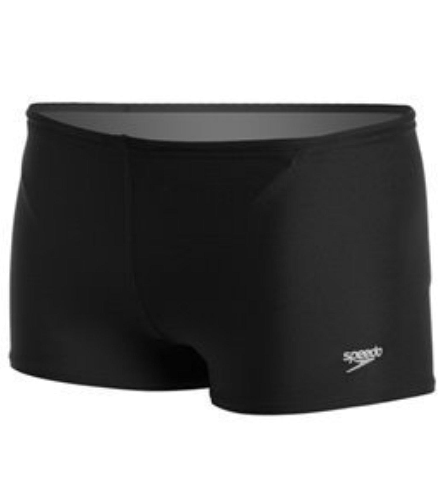 Speedo Men's Solid Square Leg - Speedo Endurance+ Speedo Black 32 & Sunlotion