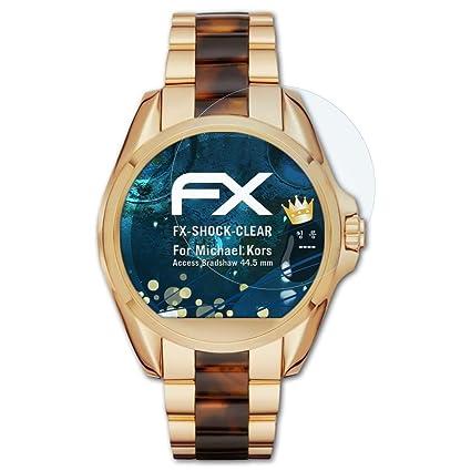 atFoliX Antichoque Película Protectora para Michael Kors Access Bradshaw (44.5 mm) Protector Película -