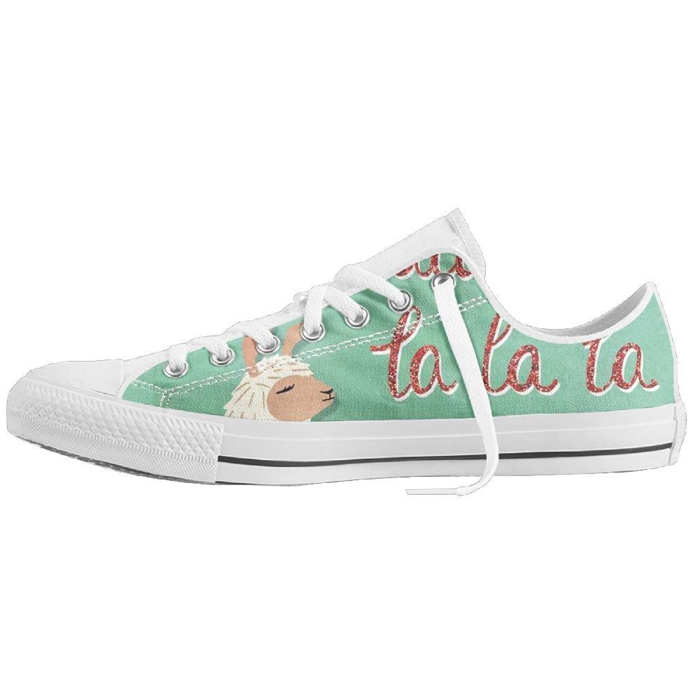 549f4534ba4 Amazon.com  Fa La La Llama Low-Top Sneaker Canvas Shoes Mens Women Casual  Shoes  Clothing