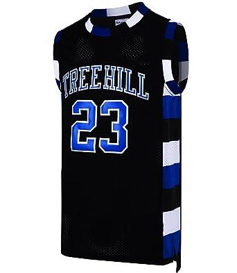 RAAVIN Nathan Scott  23 Ravens Tree Hill Jersey Mens Sports Movie Basketball  Jersey Black ( c49beda99