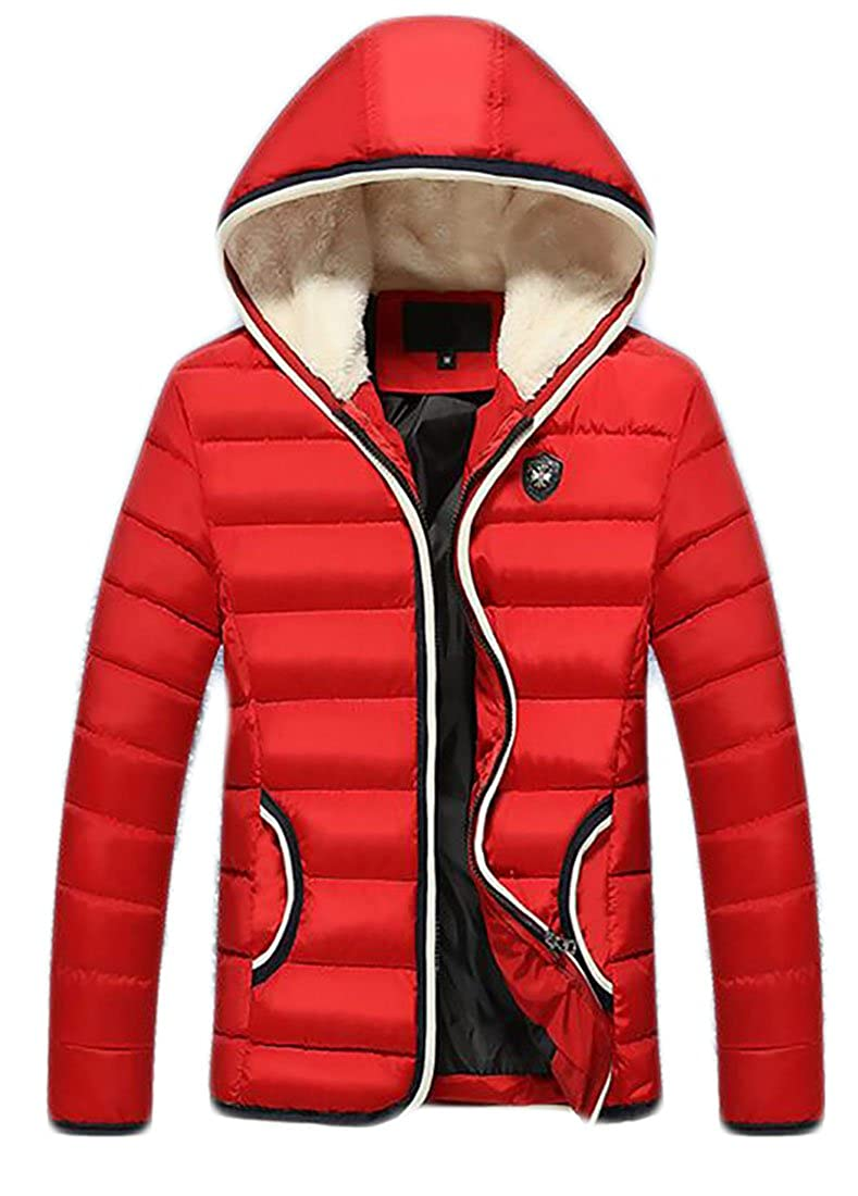 GRMO-Men Warm Packable Hoodies Ultra Puffer Down Coat