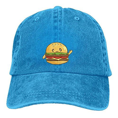 Langfujing Hamburger Press Adult Adjustable Printing Straw Cowgirl Cowboy Bucket Hat (Beef Mushroom Tenderloin)