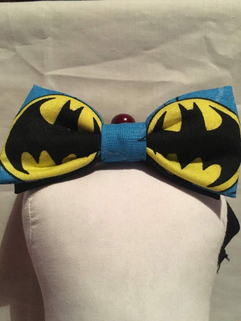 superhero bow tie. Batman character logo cotton bow tie boys dark knight kids bow tie Batman bow tie comic book bow tie