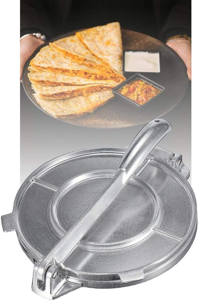 Ablerfly Tortilla Press Maker 20 Cm Trustworthy Tortilla Press en Aluminium Moul/é Tortilla Maker Outil De Restauration Tortilla Press /À La Farine Non-Stick Rotis Press Presse-p/âte