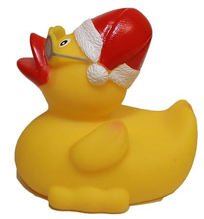 rubber duck santa waddlers brand rubber ducks that float upright n race seasonal rubber - Christmas Duck
