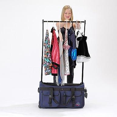 Large Rac N Roll Bag Wheeled Drop Bottom Duffel With Garment Rack