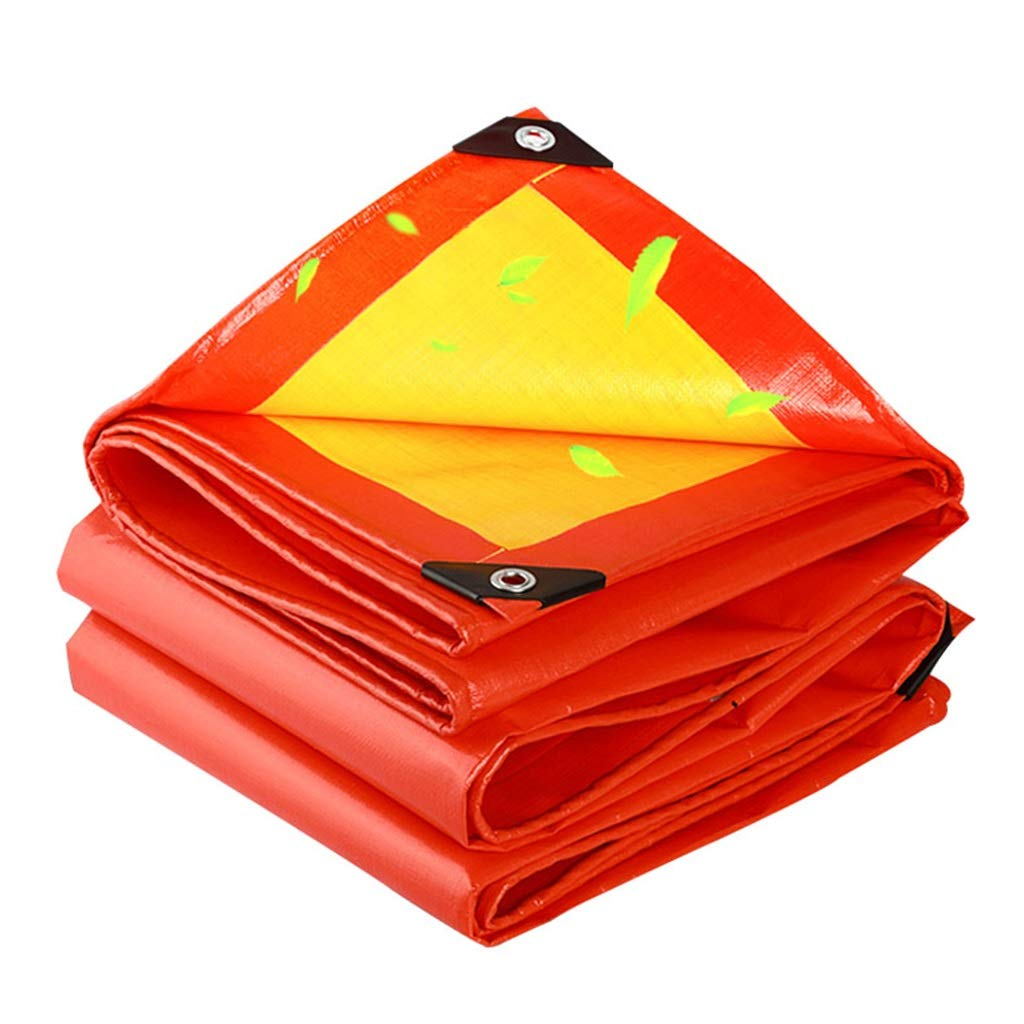 6mx6m Durable Tarpaulin Waterproof Tarps Sunscreen Cloth Shrink Proof with Heat Sealed Seams for Farmers Painters Campers Emergency Shelter