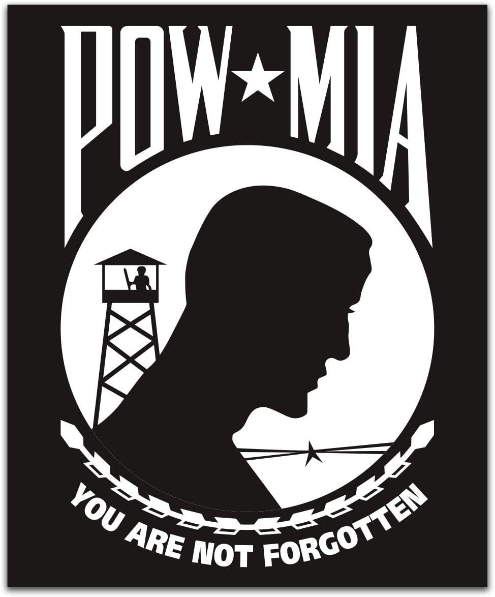 2 POW-MIA Decal Sticker