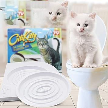 Heaviesk Suministros para Mascotas Baño para Mascotas Entrenador para IR al baño Entrenador para el baño para Gatos Diseñado para Resolver los Problemas ...