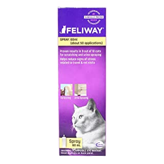 Feliway Cat Calming Pheromone Spray (60ML), #1 Vet Recommended Solution, Reduce Anxiety for Vet Visits, Travel, Loud Noises and More