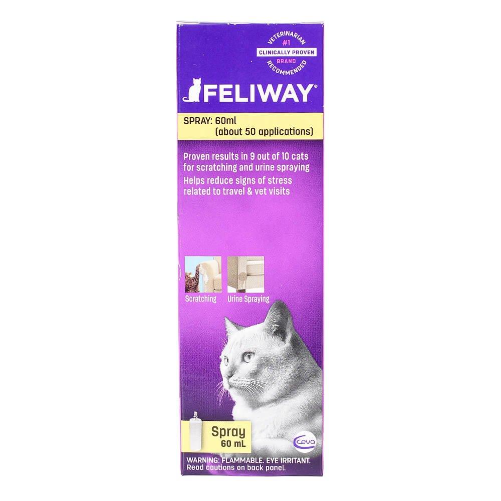 Ceva Feliway Spray 60 ml Cat Feline Stress Behavior Relief Urine Spraying Scratching