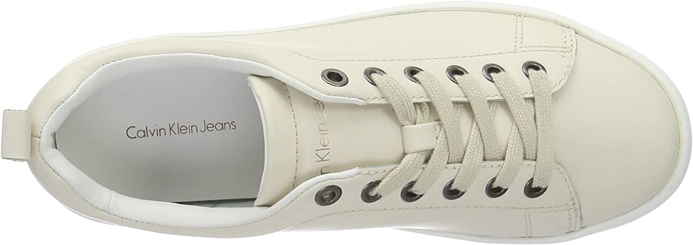 Calvin Klein Dalila Soft Nappa, Scarpe da Ginnastica Basse Donna Bianco Off White