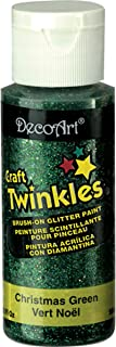 product image for DecoArt Craft Twinkles Paint, 2-Ounce, Christmas Green
