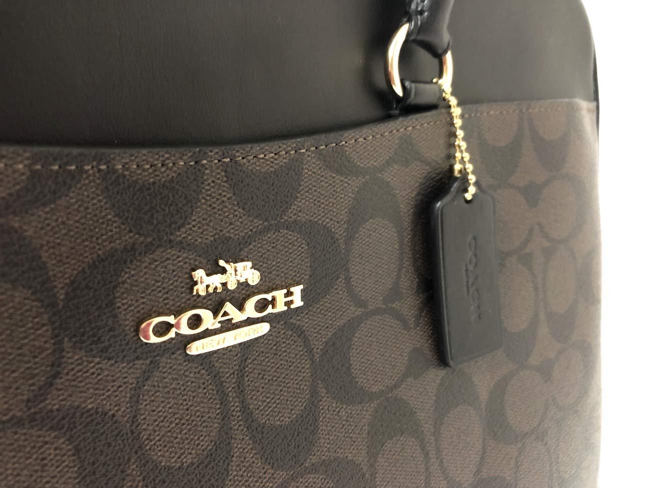 COACH Signature Laptop Bag F39023 Brown/Black by Coach (Image #3)