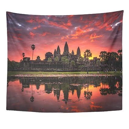 Amazoncom Emvency Decor Wall Tapestry Beautiful Sunrise Colorful