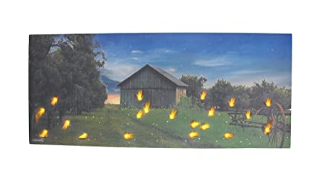 Lightning Bug Lighted Canvas