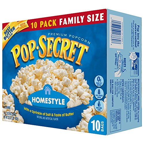 Pop Secret Popcorn, Homestyle, 3 2 Ounce Microwave Bags, 10 Count