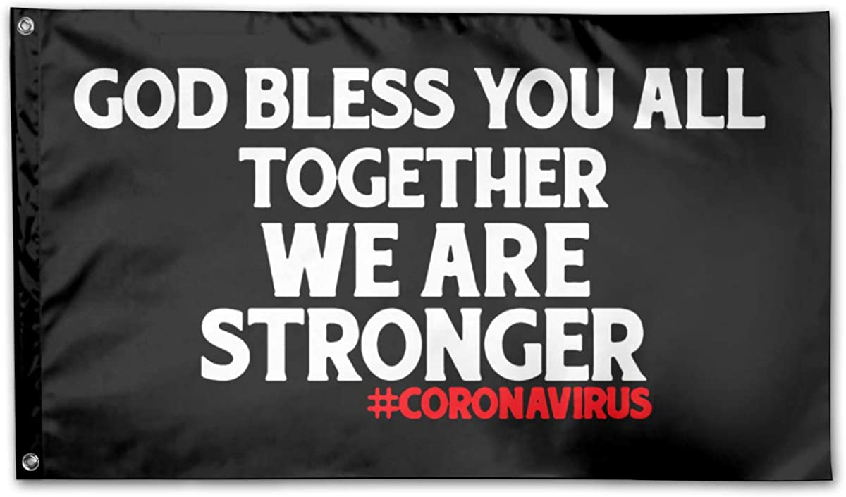 Mrscsefid American Flag by U.S. Veterans Owned God Bless You All,Together We are Stronger Flag 3x5 Ft