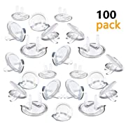Outlet Plug Covers (100 Pack) Ultra Clear Child Proof Electrical Protector Safety Caps Electrical Socket Covers by Jackshadow
