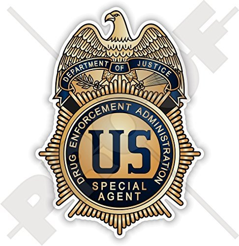 US Justice Department DRUG ENFORCEMENT ADMINISTRATION Badge DEA America USA, American 100mm (4