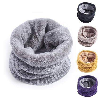 Enfants Garçons Filles Coton Snood Épaissir Coupe-Vent D hiver Warmer Neck  Warmer Circle Écharpe Tricotée Pour Les Tout-Petits Cadeaux ! 0cb096018c0