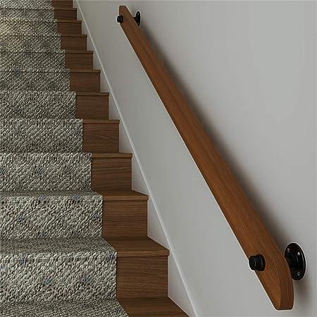 Pasamanos, barandilla de escalera de pino natural para niños viejos, rieles de seguridad antideslizantes en la pared, postes de soporte para pasillos interiores, aptos para jardines de infantes, hos: Amazon.es: Hogar