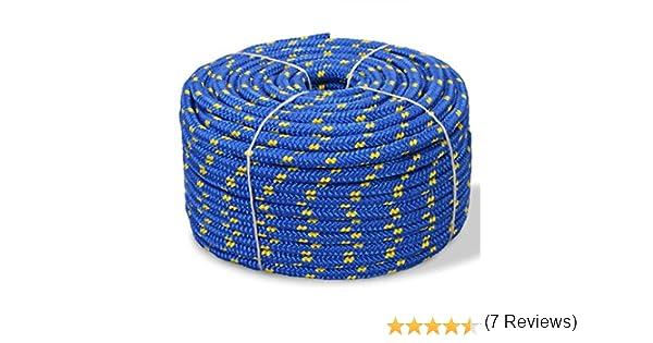 vidaXL Cuerda Marina de Polipropileno 12mm 50m Azul SOGA Accesorios Bricolaje