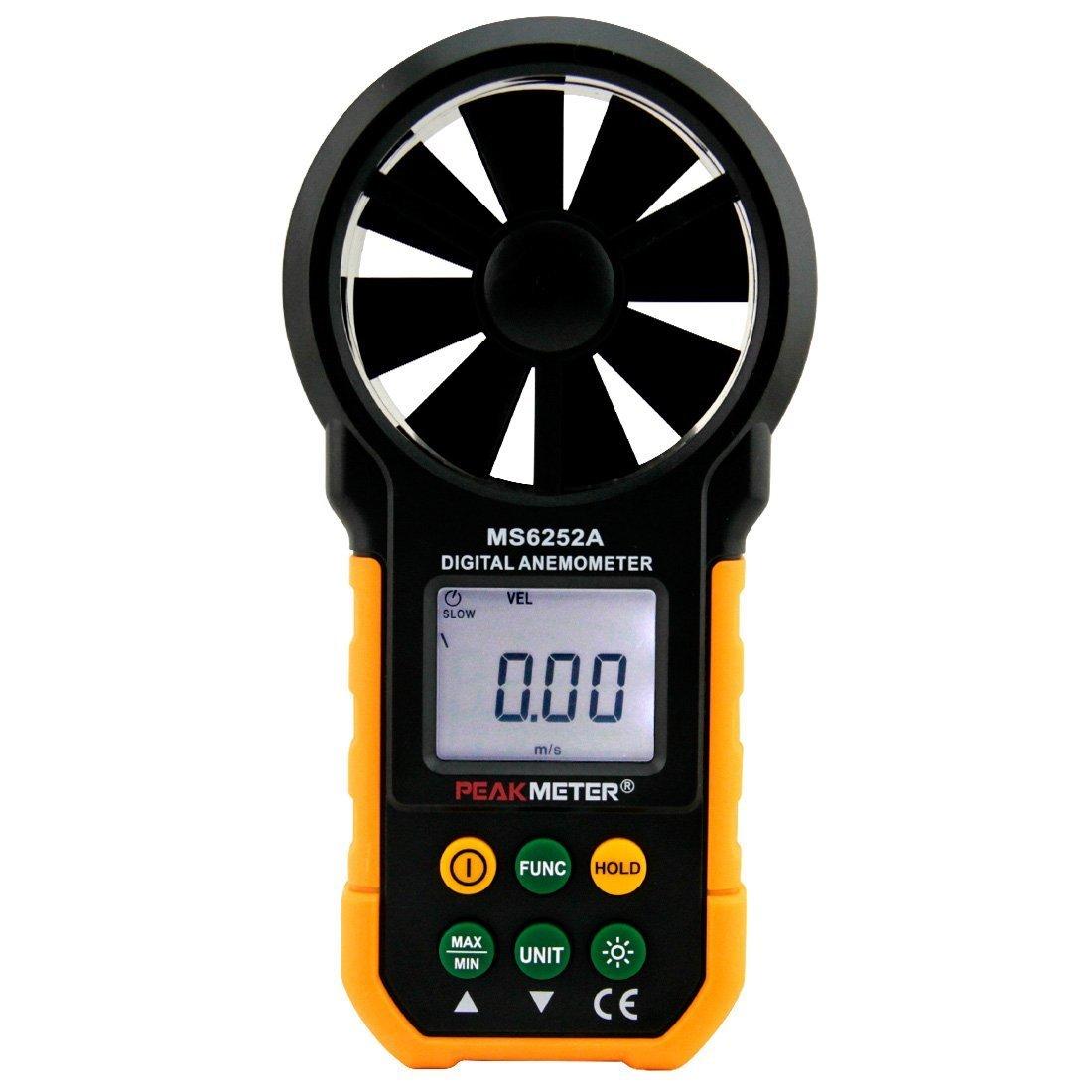 Wonderful Electrical Tools Tester LCD Digital Anemometer Handheld Wind Speed Meter Gauge Air Volume Meter Backlight Air Velocity Measurement MS6252A