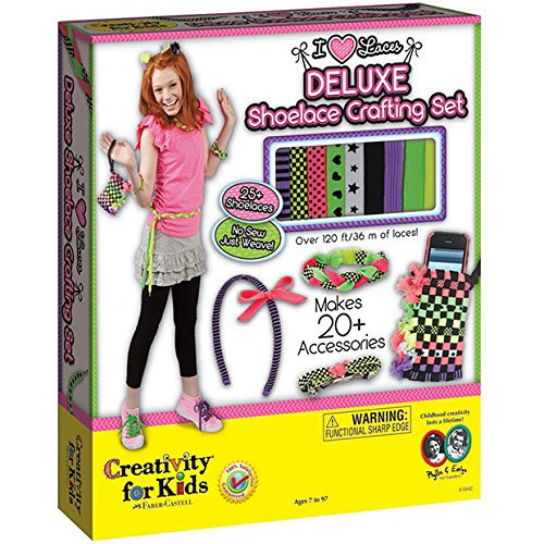 Creativity for Kids  I Love Laces Deluxe Shoelace Crafting (Super Deluxe Lace)