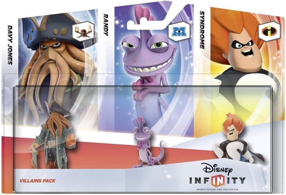 Disney Infinity - Pack 3 Figuras Villanos: Davy Jones, Randall, Syndrome: Amazon.es: Videojuegos