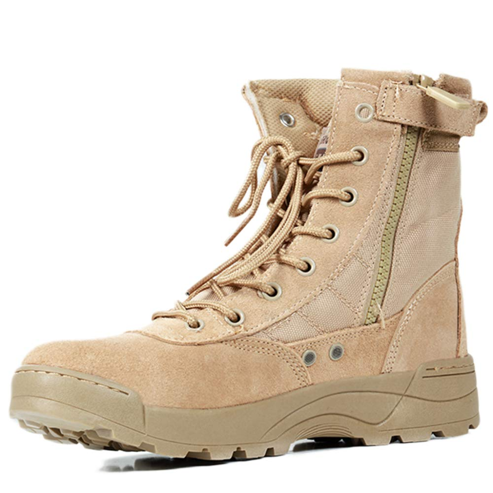 Souy Cordones De Los Hombres Botas De Combate Al Aire Libre Botas Altas Botas Militares del Ej/ército Botas T/ácticas Zapatos De Escalada para Acampar Fuerzas Especiales Bota De Tobillo