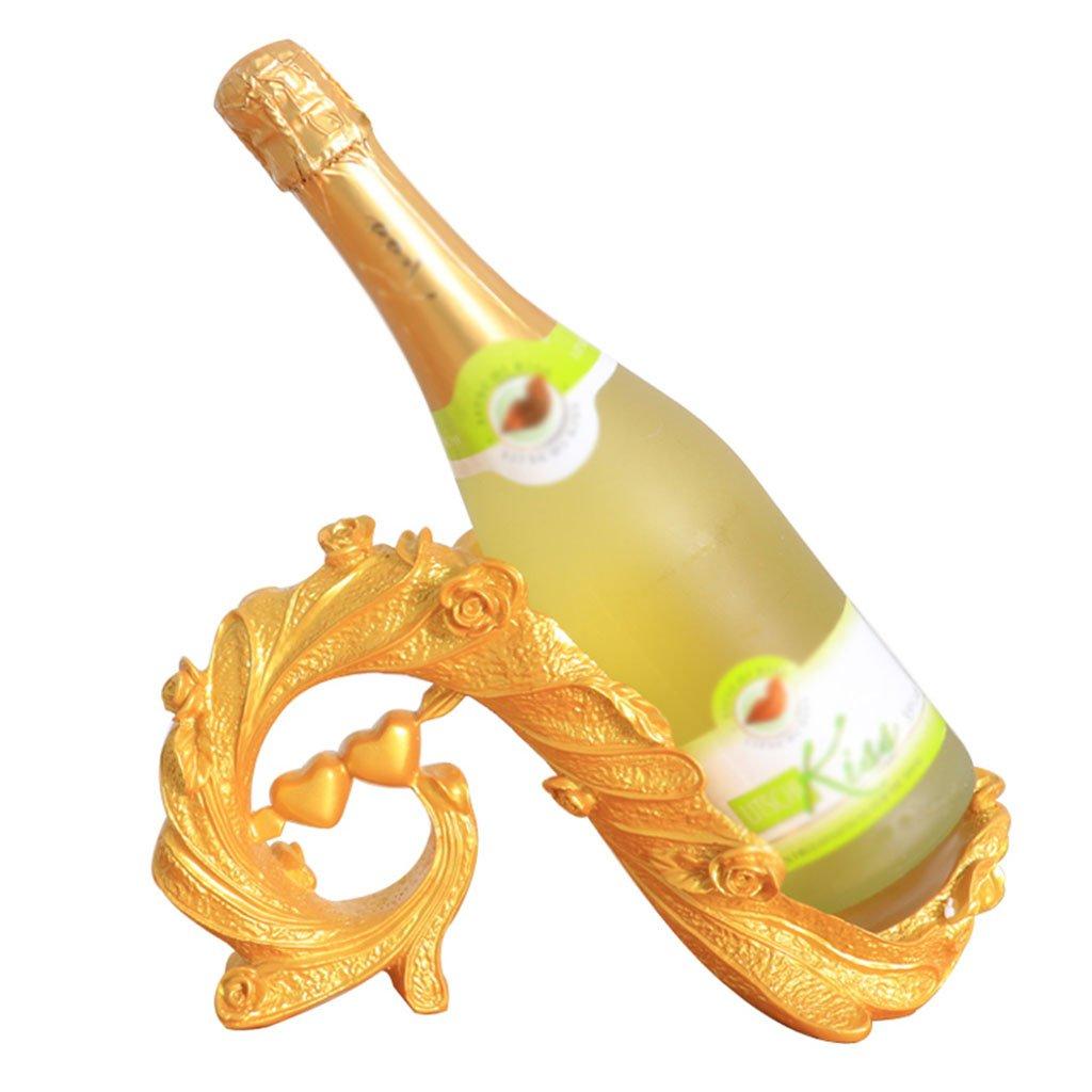 Regale & Ablagen Goldene europäische Harz Liebe Weinschrank Weinregal 27  11  31 cm   11  4  12 Zoll