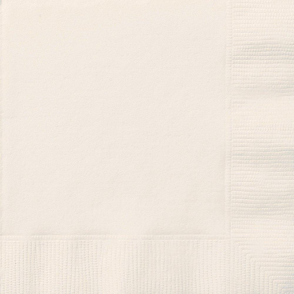 Unique Party 32372 - Tovaglioli di Carta, Confezione da 50, 16,5 cm, Avorio